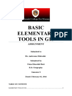 GIS 2 (Applications of Elementary Tools in GIS)
