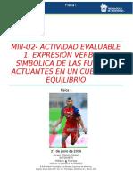 Miii-u2- Actividad Evaluable 1. Expresión Verbal y Simbólica de Las Fuerzas Actuantes en Un Cuerpo en Equilibrio