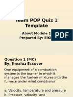Green Boiler Technology - POP Quiz 1