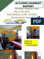 Summer Remedial Reading Class