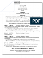 reverse chron resume