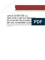 Aplicacion de Mecanica de Fluidos en Tratamiento de aguas Resu¡iduales