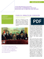 Boletín Virtual Nº 1 - Comisión de Descentralización