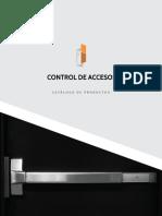 Control de accesos y sistemas catalogo