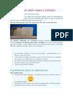 Cómo Elaborar Jabón Casero y Ecológico