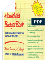 Bk MnyFnnc BonniesHouseholdBudgetBook
