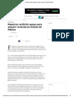 09 - 07 - 16 Maestros recibirán apoyo para adquirir vivienda en Estado de México