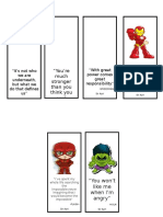 Superhero Bookmark