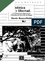 Rosenfield. Política y Libertad
