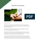 Bagaimana Melakukan Meditasi