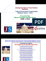 FEDERAL Govt Contracting - Maximizing The Value of Your GovCon Business