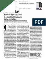 11 - 07 - 16 El Brexit Sigue Afectando La Estabilidad Financiera de Las Monedas