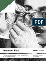 Kant. Fundamentación para una Metafísica de las Costumbres