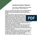Biografía Resumida de Américo Vespucio