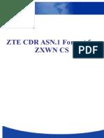 CDR Format for MSC