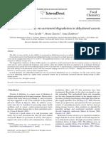 Effect of Water Avtivity on Carotenoid Degradation
