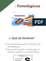 Déficit fonológicos