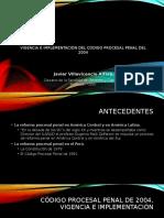Vigencia y Aplicación del Nuevo Código Procesal Penal en el Perú.