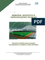 modelo  Memorial Descritivo Do Projeto