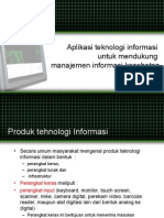 Teknologi Informasi Untuk Mendukung Manajemen Informasi Kesehatan