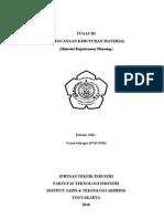 TUGAS III PERENCANAAN KEBUTUHAN MATERIAL (Material Requirement Planning)