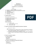 Matematicas i Ejercicios Prpuestos