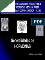 Generalidades de Hormonas