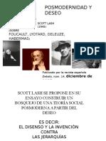 Scott Lash:Posmodernidad y deseo