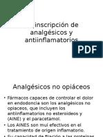 Preinscripción de Analgésicos y Antiinflamatorios
