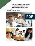 Evidencias de Actividades Realizadas en El Internado Médico de Pregrado