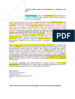 Environment Essay Marking Sample