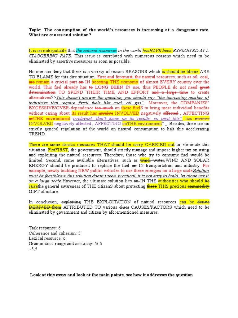 Environment Essay Marking Sample  Fuels  Energy Development  Proposal Argument Essay Examples also High School Argumentative Essay Examples  Important Of English Language Essay
