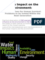 human impact 1 of 2 atmosphere and water