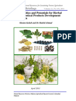 Opportunities and Potentials for Herbal Pharmaceutical Products Development in Pakistan