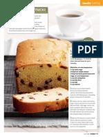 Recipe - Lemon Sultana Loaf Cake