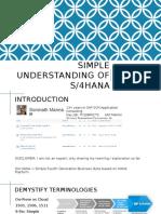 Simple Understanding of S4 HANA