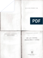 De La Causa Principio y Uno Giordano Bruno