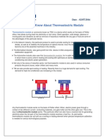Things to Know About Thermoelectric Module