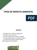 Tipos de Impacto Ambiental