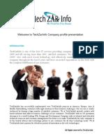 TechZarInfo Company Presentation