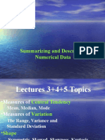Central Tendency Measures Lectures 3 4 5