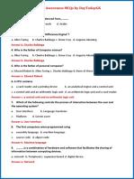 Computer Awareness MCQs PDF