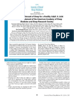 Adult Sleep Duration Consensus
