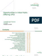 Opportunities of Initial Public Offering(IPO)