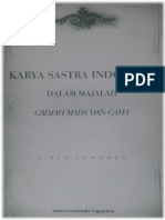 Karya Sastra dalam Majalah Gadjah Mada dan Gama