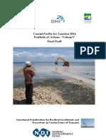 Coastal Profile Volume v - Portfolio of Actions Zanzibar