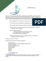 hosting the 2018 international philosophy of nursing society conference