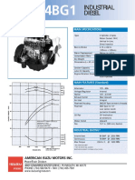 Isuzu 4BG1 Engine Spec