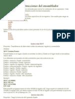 Las Instrucciones Del Ensamblador