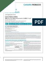 Canara Robeco InDiGo Fund NFO Form